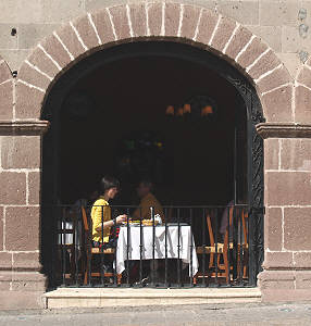 Dining out, San Miguel de Allende