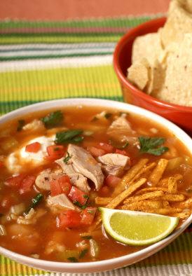version of all the authentic sopa de tortilla or Mexican tortilla soup ...