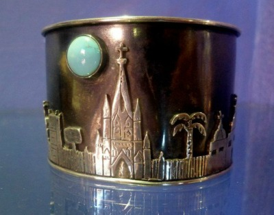 San Miguel skyline bracelet by Sabrina Surving at 7th Heaven.
