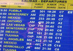 Mexican Airport Departure Screen