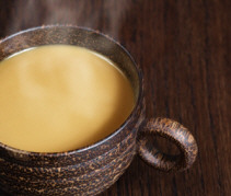 Atole, a delicious Mexican hot drink made of cornmeal, San Miguel de Allende