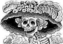 Catrina, the laughing Lady of Death, drawn by Jose Guadalupe Posada