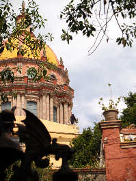 The dome of Las Monjas church rises over San Miguel de Allende