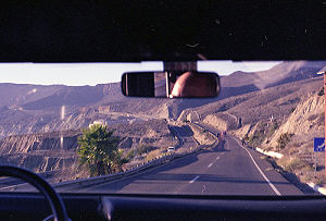 Driving into Mexico on a divided toll road to San Miguel de Allende