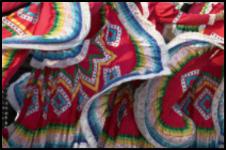 Mexican folkloric dancers skirts, San Miguel de Allende