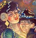 Detail of Gringo Dancing, by Keith Keller, San Miguel de Allende