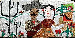 Hooked rug, Oralia Crisantos, Agustin Gonzalez, Mexico