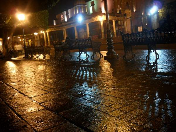 Jardin on a Rainy Night, San Miguel de Allende