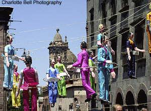 Judsas figures exploding on Easter sunday, San Miguel de Allende