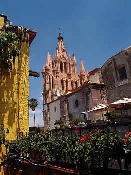 Terrace view at La Posadita restaurant, San Miguel de Allende