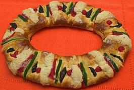 A Traditional Mexican Rosca de Reyes, Three Kings Bread, San Miguel de Allende