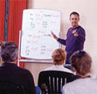 Warren Hardy teaching Spanish is San Miguel de Allende