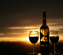 Fine wine and a beautiful sunset, San Miguel de Allende