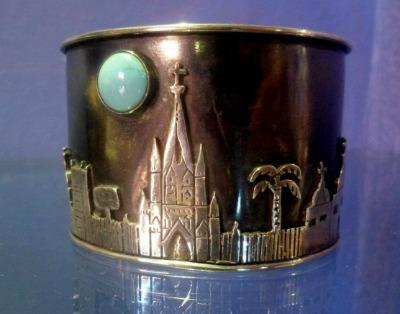 San Miguel skyline bracelet by Sabrina Surving at 7th Heaven.