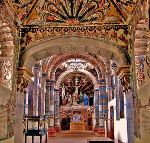 Interior-Church at Atotonilco, Guanajuato