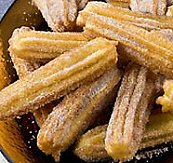 Fresh Mexican churros, served at the Café San Agustín, San Miguel de Allende