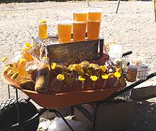 Honey for sale at tuesday Market, San Miguel de Allende