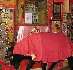 A stuffed greets you on entering Restaurant Ole Ole, San Miguel de Allende