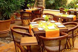 The patio dining area at Andanza at Casa de Sierra Nevada, San Miguel de Allende