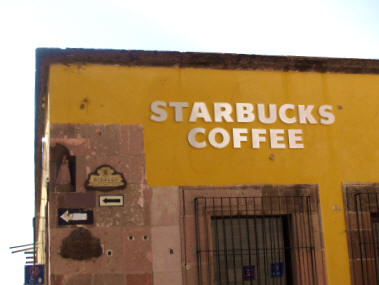The new Starbucks, San Miguel de Allende