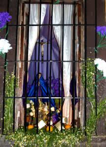 Altar to the Virgin of Sorrows, Holy Week, San Miguel de Allende